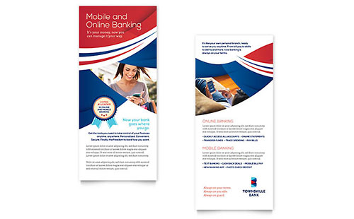 Bank Rack Card Template Design