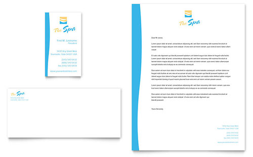 Beauty Spa Business Card & Letterhead Template Design