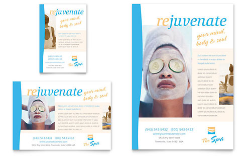 Beauty Spa Flyer & Ad Template Design