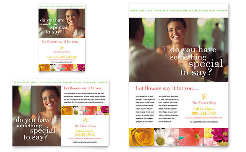 Florist Shop Flyer & Ad Template Design