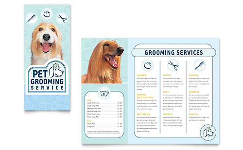 Pet Grooming Service Brochure Template Design