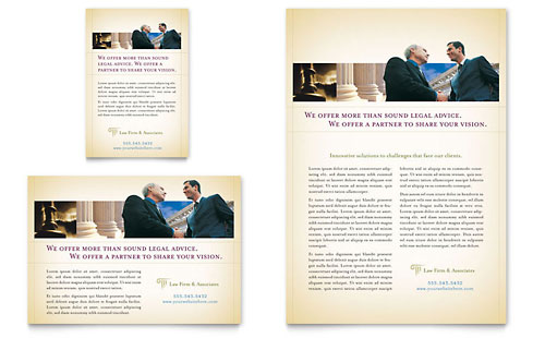 Attorney & Legal Services Flyer & Ad Template Design