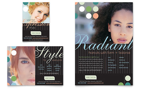 Beauty & Hair Salon - Flyer & Ad Template Design