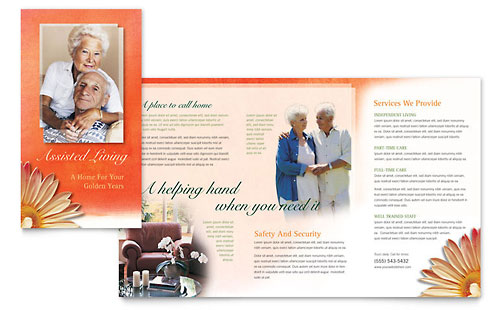 Assisted Living Facility - Brochure Template Design