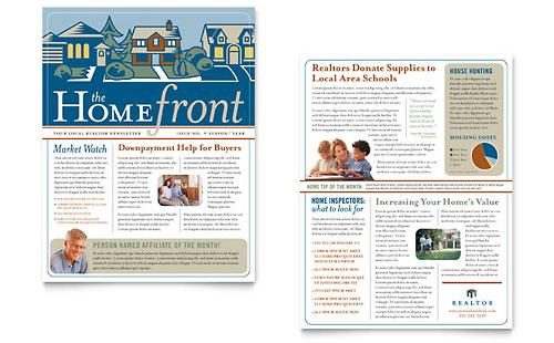 real estate agent newsletter template design. Black Bedroom Furniture Sets. Home Design Ideas