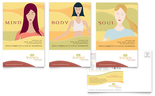 Yoga Instructor & Studio Postcard Template Design
