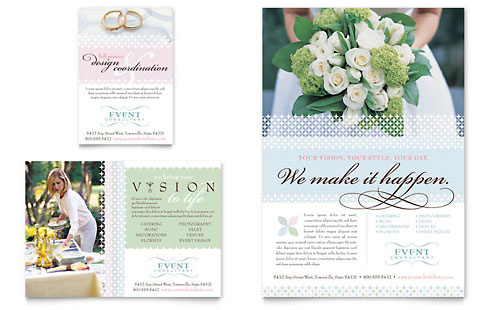 Wedding & Event Planning Flyer & Ad Template Design