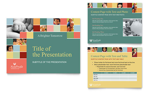 Non Profit Association for Children - PowerPoint Presentation Template Design