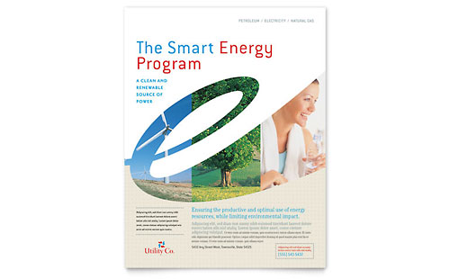Utility & Energy Company Flyer Template Design