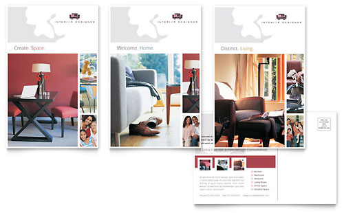 Interior Designer Postcard Template Design