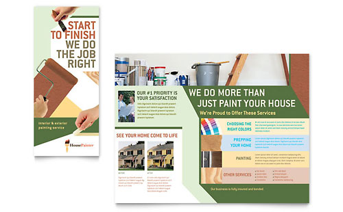 Painter & Painting Contractor - Brochure Template Design