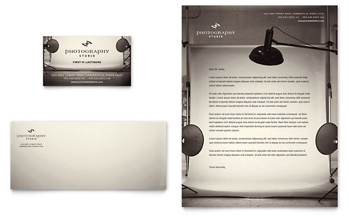 Photography Studio - Business Card & Letterhead Template Design