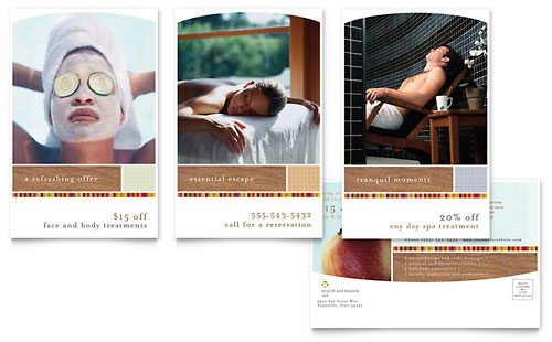 Health & Beauty Spa Postcard Template Design