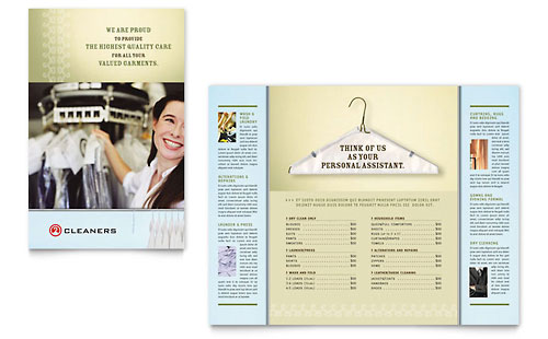 Laundry & Dry Cleaners - Brochure Template Design