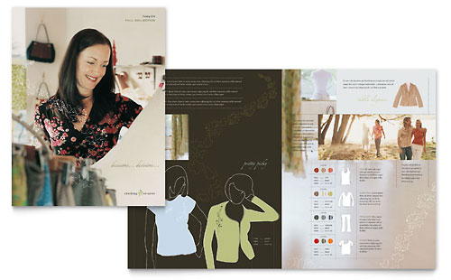 Women's Clothing Store Brochure Template Design