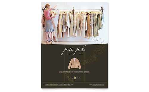 Women's Clothing Store Flyer Template Design