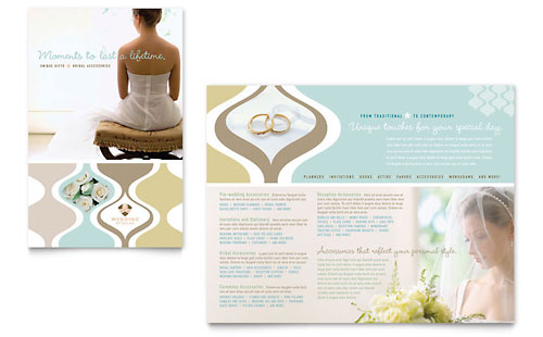 Wedding Store & Supplies - Brochure Template Design