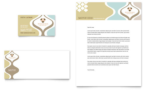Wedding Store & Supplies Business Card & Letterhead Template Design