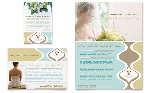 Wedding Store & Supplies Flyer & Ad Template Design