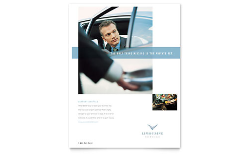 Limousine Service Flyer Template Design