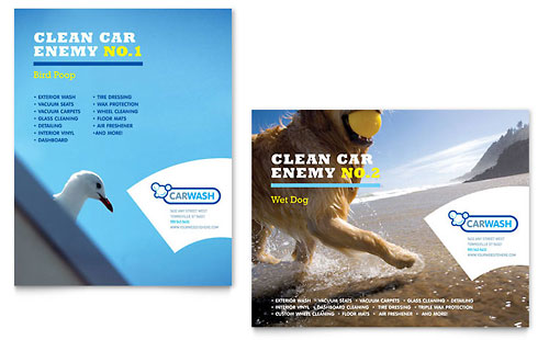 Car Cleaning - Poster Template Design