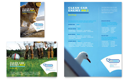 Car Cleaning Flyer & Ad Template Design