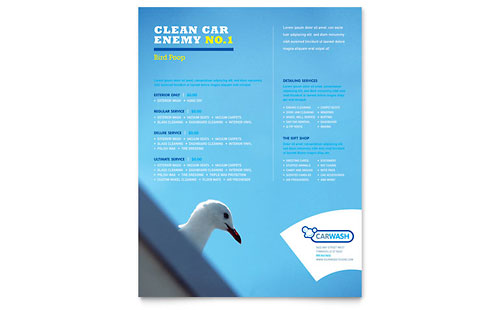 Car Cleaning Flyer Template Design