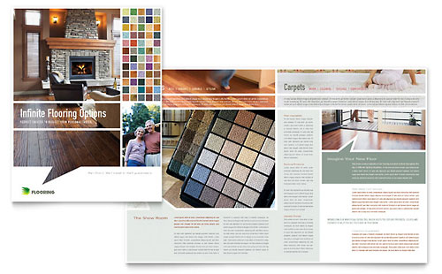 Carpet & Hardwood Flooring Brochure Template Design