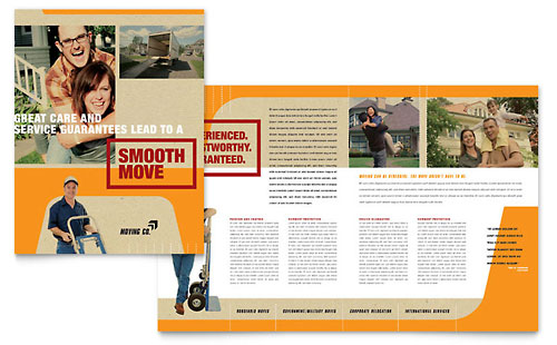 Movers & Moving Company Brochure Template Design