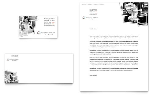 Photographer Business Card & Letterhead Design Template