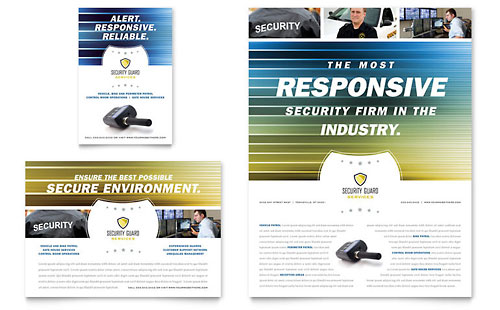 Security Guard Flyer & Ad Template Design