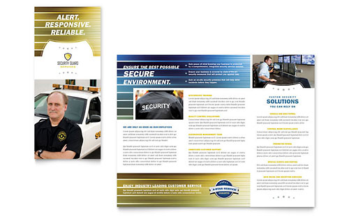 Security Guard - Tri Fold Brochure Template Design