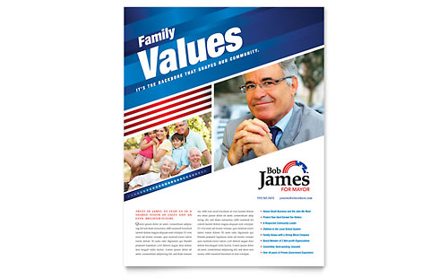 Political Campaign Flyer Design Template