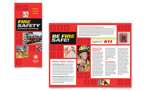 Fire Safety - Brochure Template Design