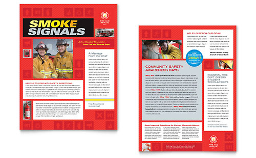 Fire Safety Newsletter Template Design