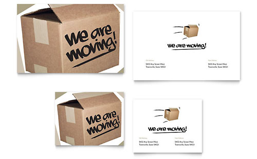We're Moving Note Card Design Template