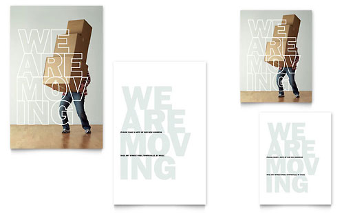 We're Moving - Note Card Template Design