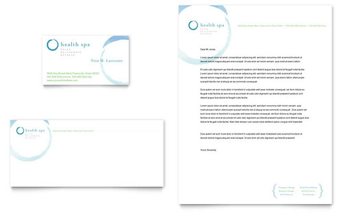 Day Spa & Resort Business Card & Letterhead Template Design