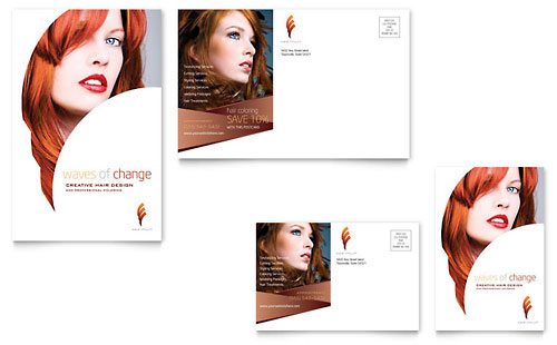 Hair Stylist & Salon Postcard Template Design