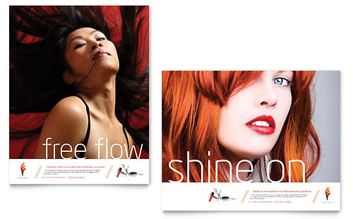 hair stylist  u0026 salon brochure template design