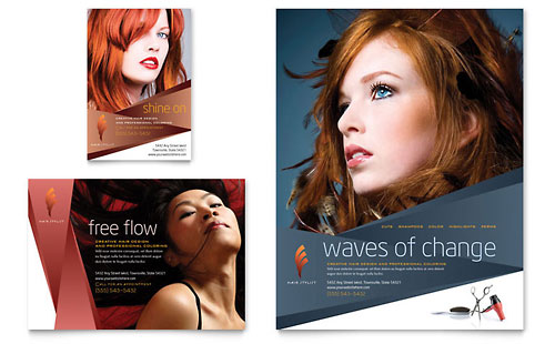 Hair Stylist & Salon Flyer & Ad Template Design