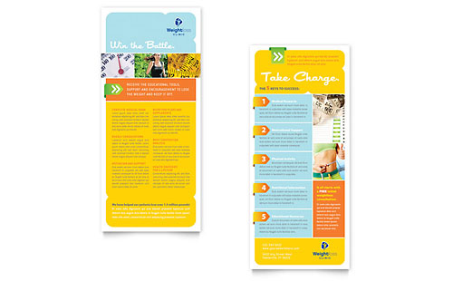 Weight Loss Clinic - Rack Card Template Design