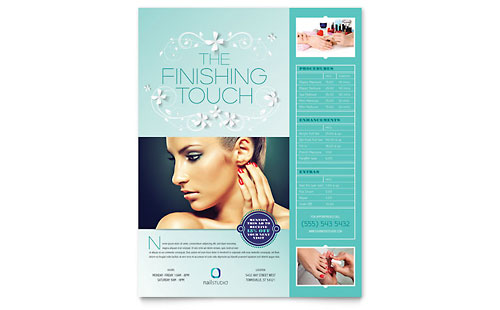 Nail Technician Flyer Template Design