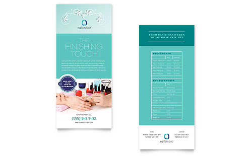 Nail Technician Rack Card Template Design