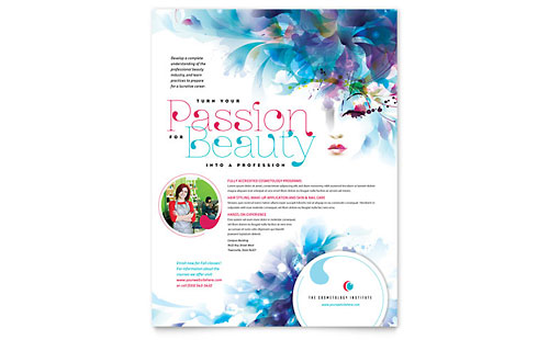 Cosmetology Flyer Template Design