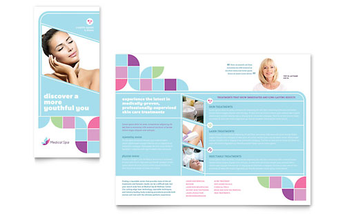 medical brochure templates free - medical spa brochure template design