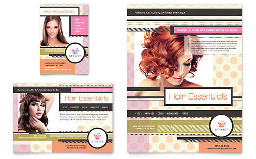Hairstylist Flyer & Ad Template Design