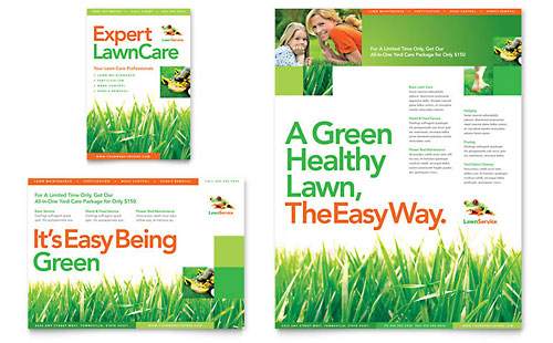 Lawn Maintenance Flyer & Ad Template Design