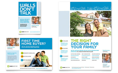 Home Inspection & Inspector - Flyer & Ad Template Design