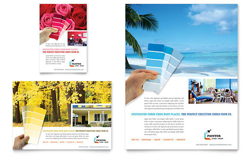 House Painting Contractor Flyer & Ad Template Design